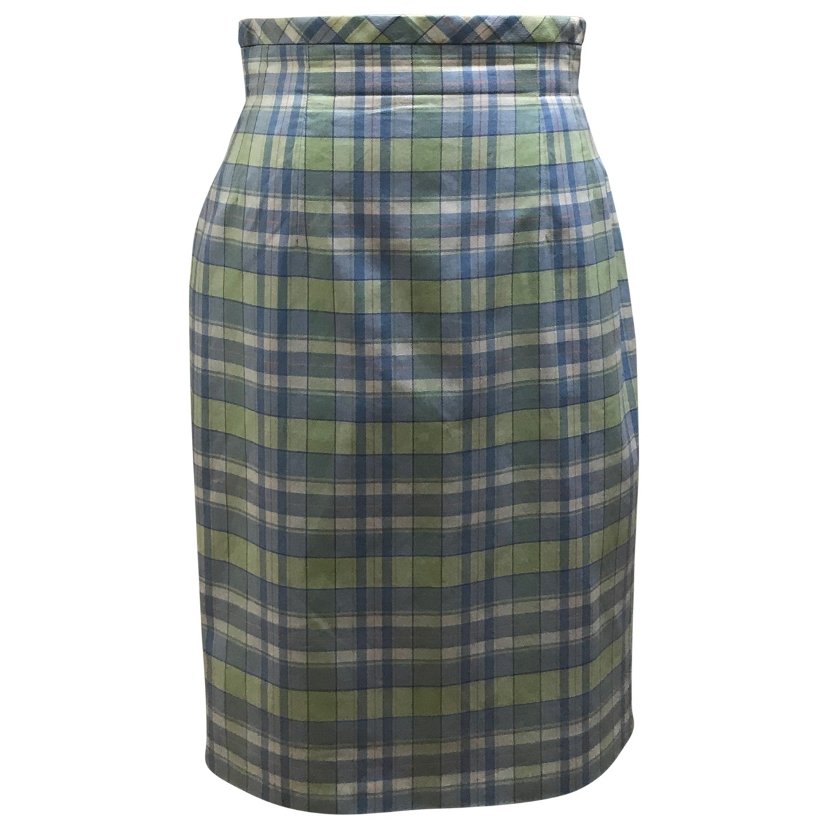 Escada \N Blue Cotton skirt for Women 36 FR