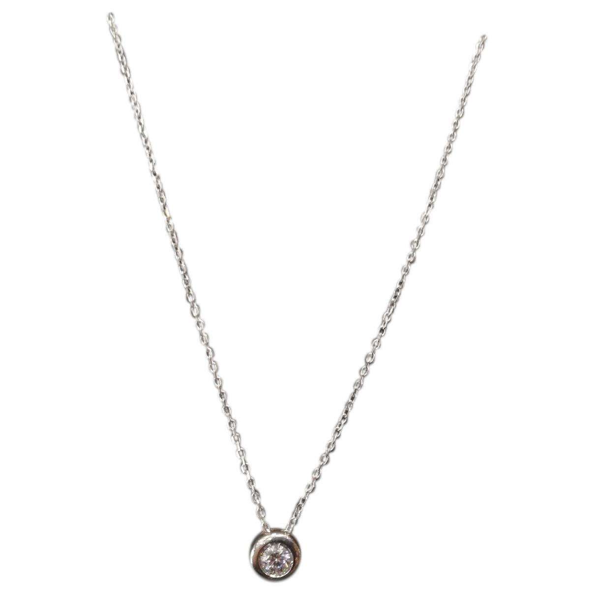 - Collier Chaines pour femme en or blanc - blanc