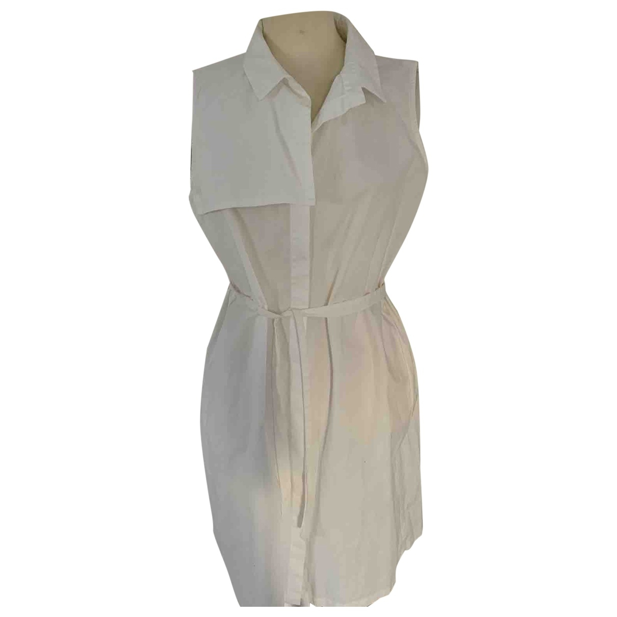Calvin Klein \N Kleid in  Weiss Baumwolle