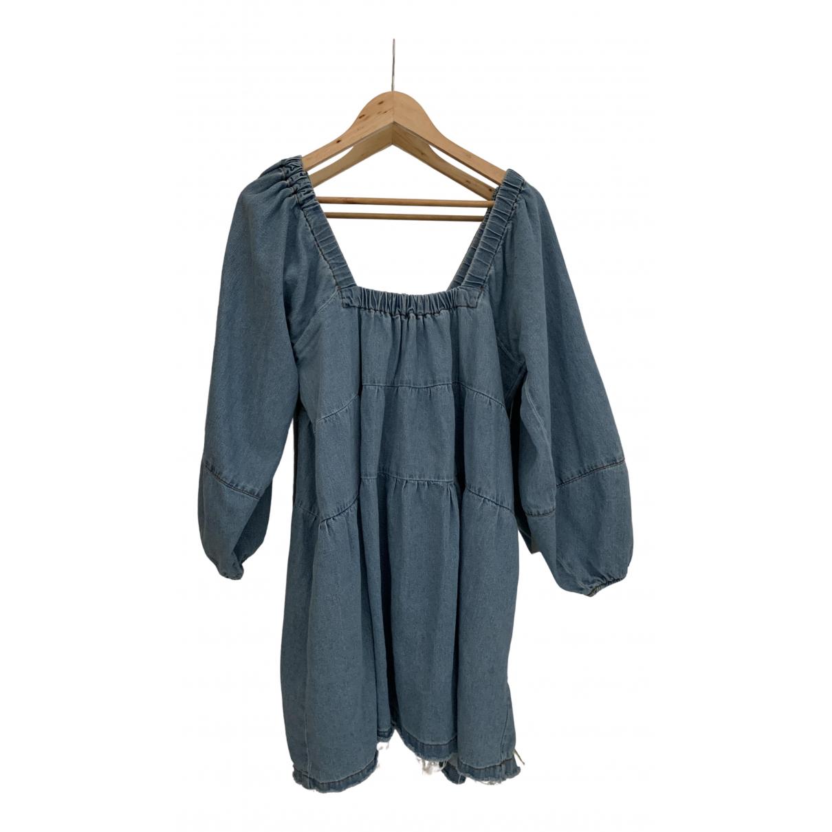 Free People \N Kleid in  Blau Denim - Jeans