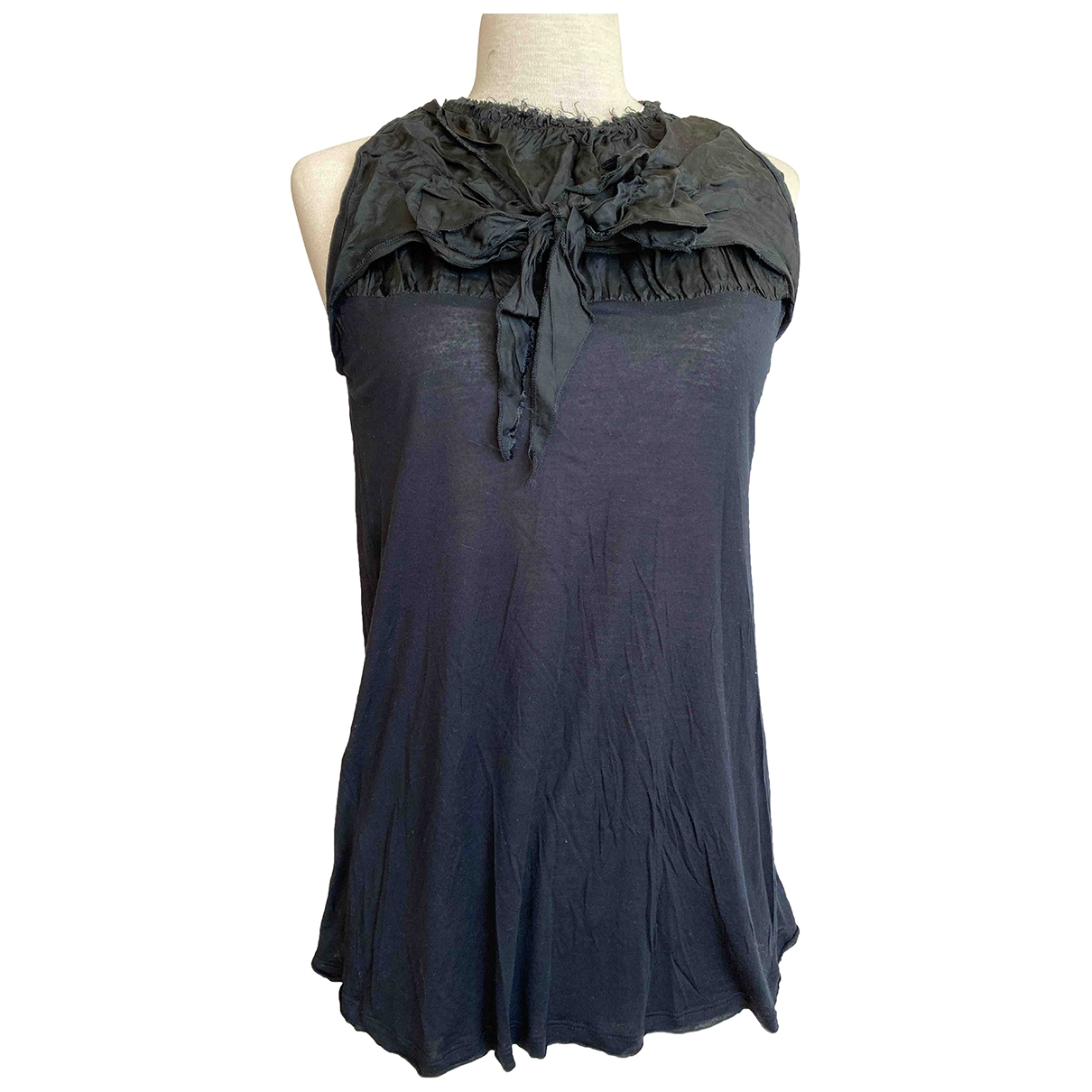Prada - Top   pour femme en coton - noir