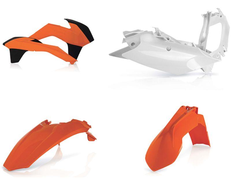 Acerbis 2314315135 Plastic Kit Orange/White KTM SX125 13-15