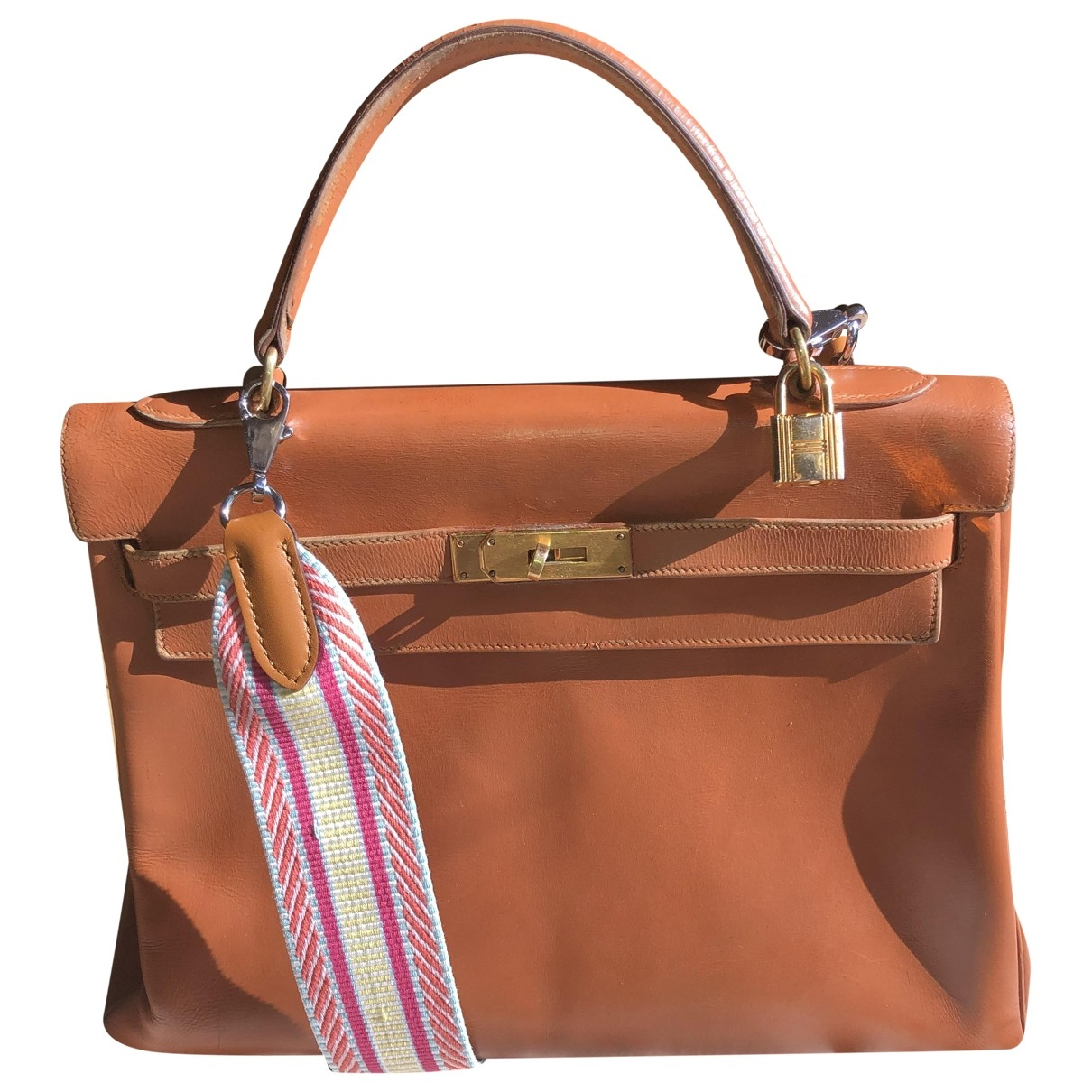 Hermès Kelly 32 Camel Leather handbag for Women \N