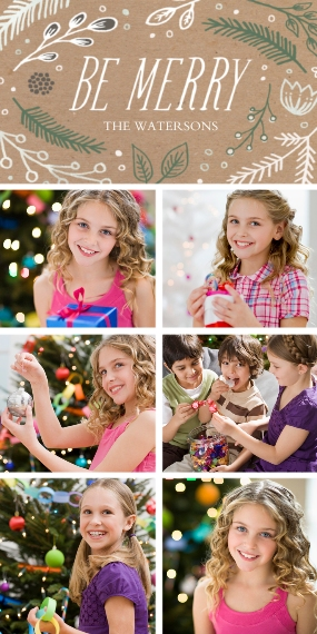 Holiday Photo Cards 4x8 Flat Card Set, 85lb, Card & Stationery -Be Merry