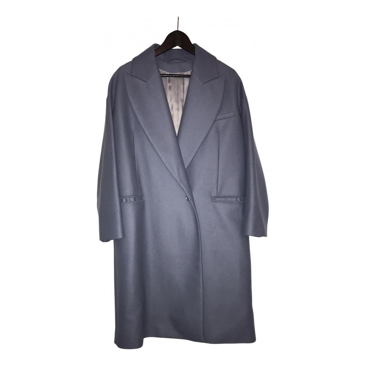 & Other Stories - Manteau   pour femme en laine - bleu