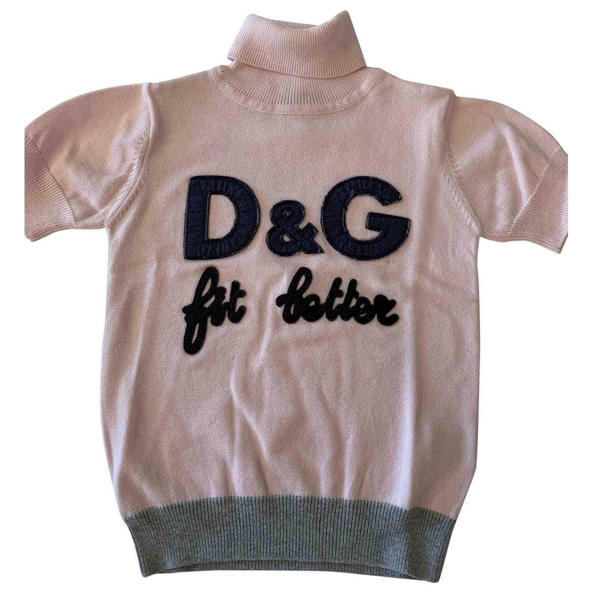 D&g - Top   pour enfant en coton - rose