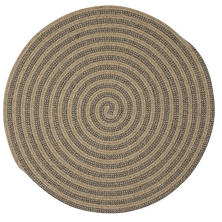 Colonial Mills Berkshire Braided Round Rug, One Size , Beige