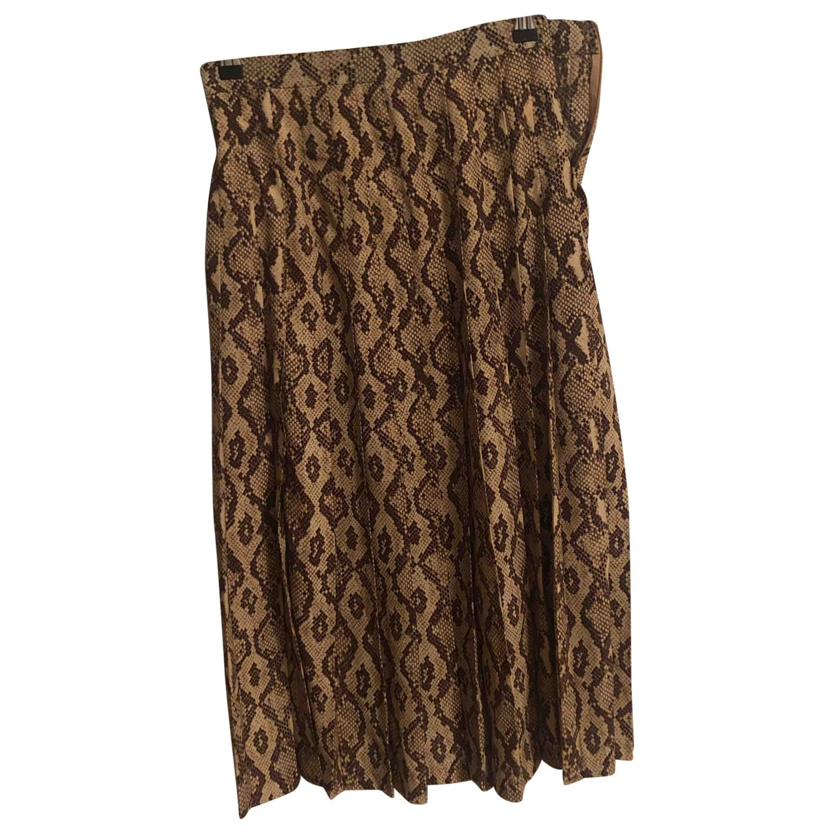 Zara \N Rocke in  Braun Polyester