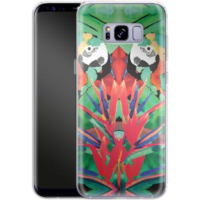Samsung Galaxy S8 Plus Silikon Handyhuelle - Parrot von Amy Sia