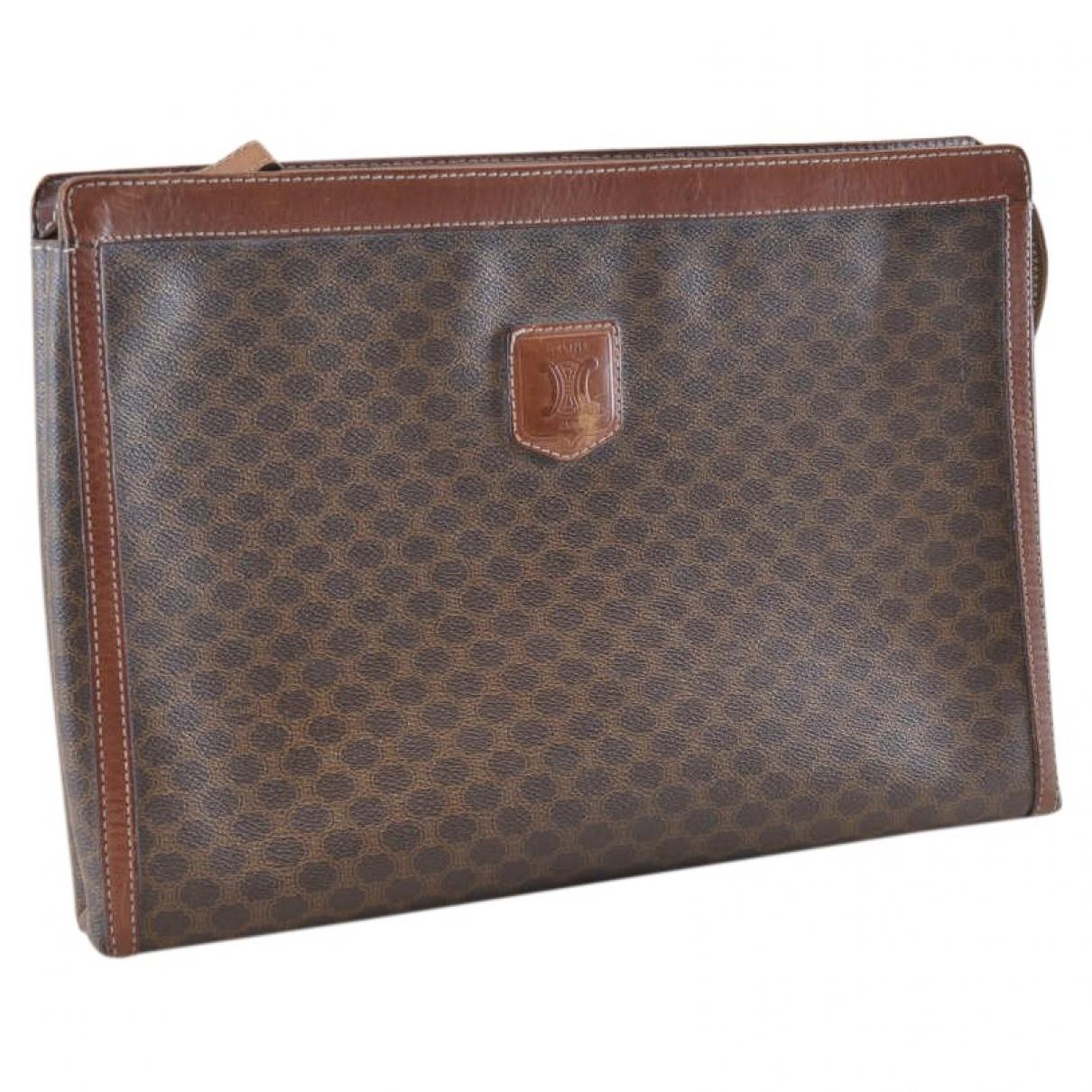 Celine \N Brown Cloth Clutch bag for Women \N