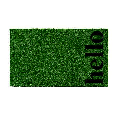 Vertical Hellonatural/Black Rectangular Outdoor Doormat, One Size , Multiple Colors