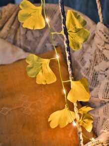 1pc Ginkgo Biloba String Light With 20pcs Bulb
