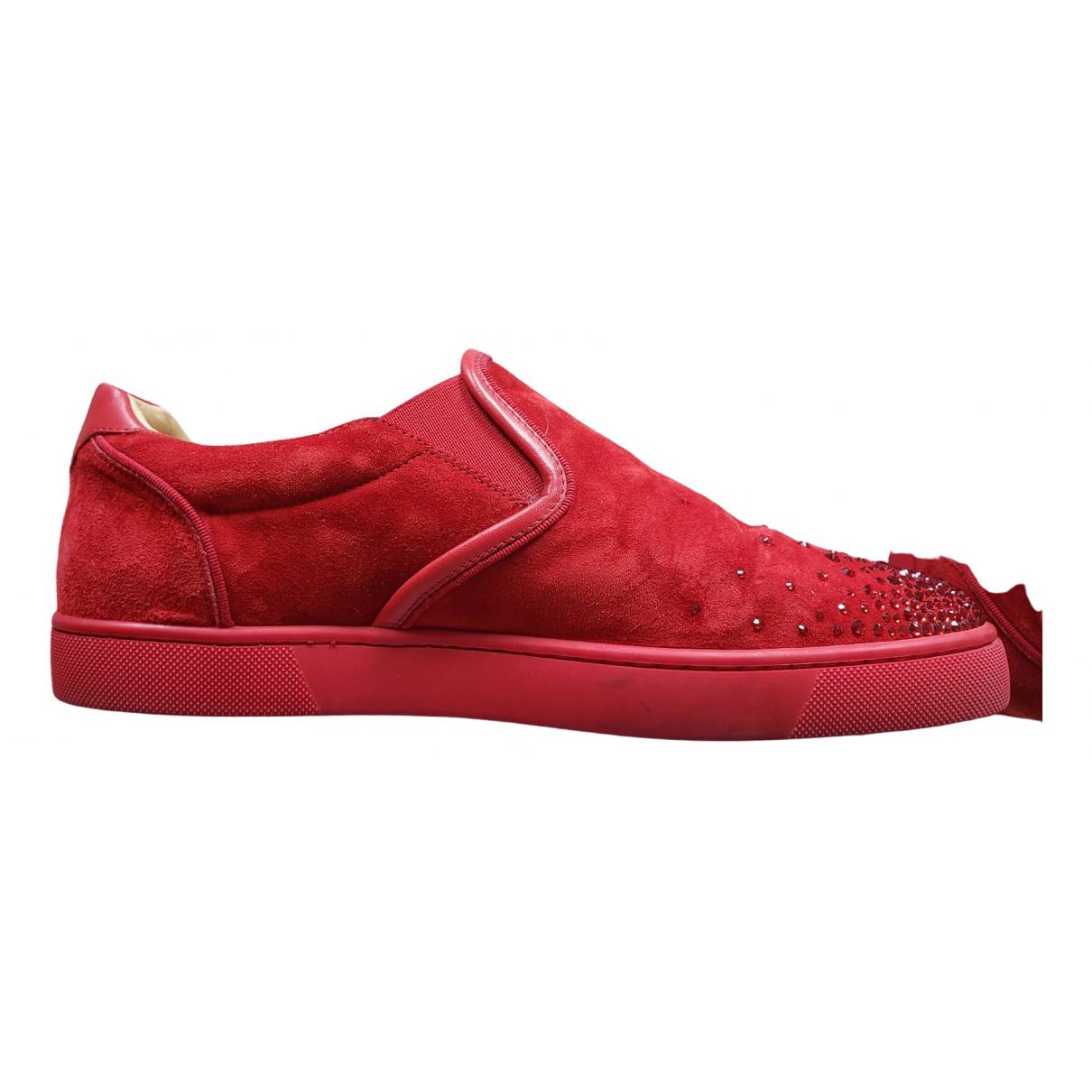 Christian Louboutin \N Sneakers in  Rot Mit Pailletten