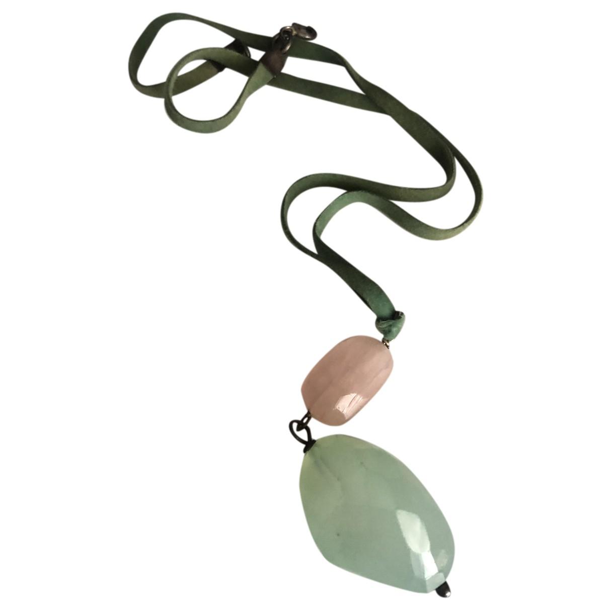 - Collier Opale pour femme en cuir - multicolore