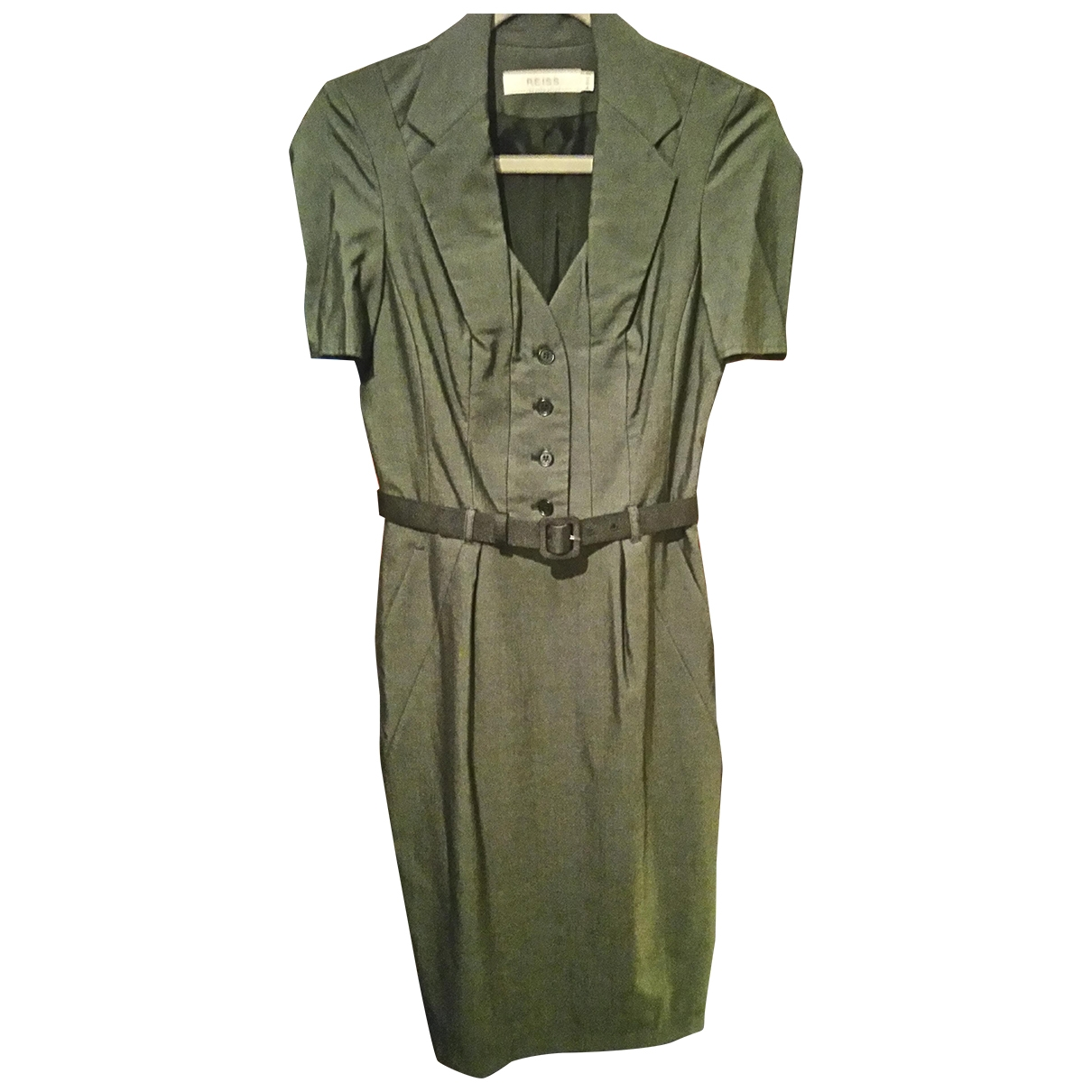Reiss \N Kleid in  Grau Wolle