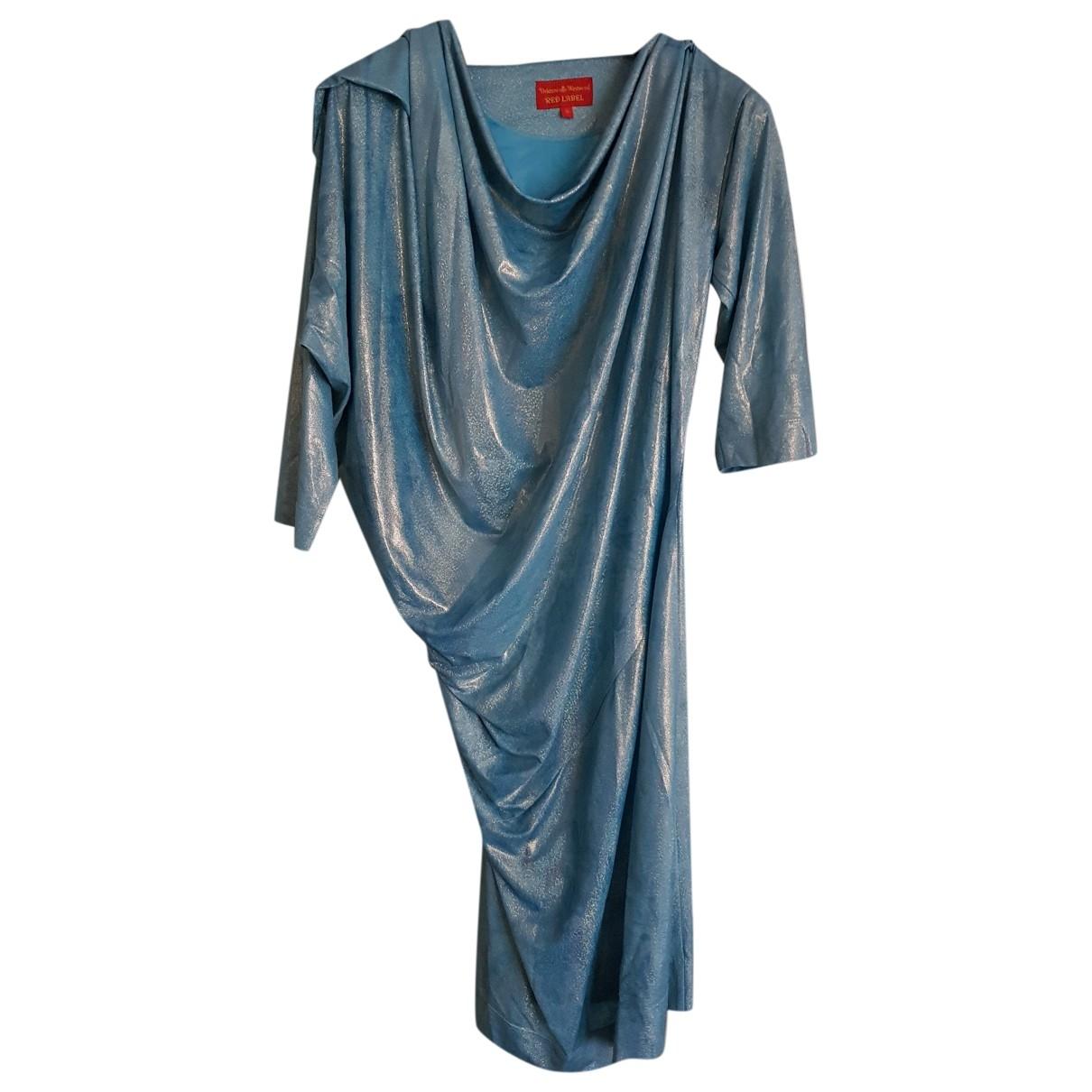 Vivienne Westwood Red Label \N Kleid in  Blau Polyester