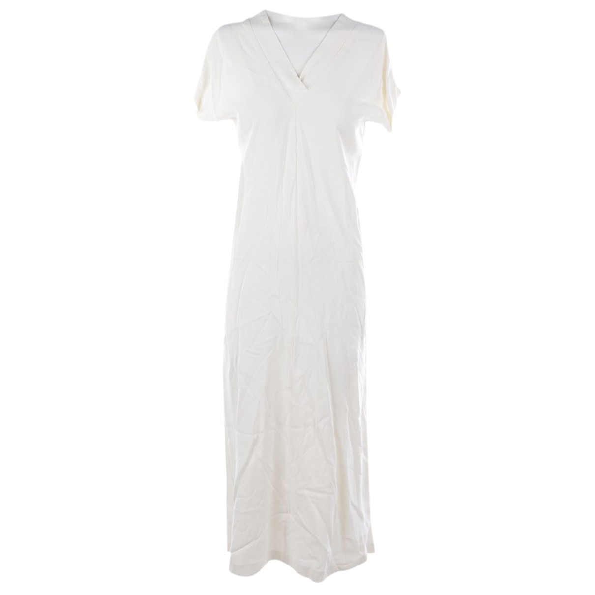 Helmut Lang \N Kleid in  Gelb Viskose