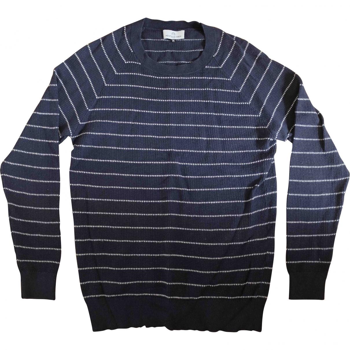 Hentsch Man \N Pullover.Westen.Sweatshirts  in  Marine Baumwolle