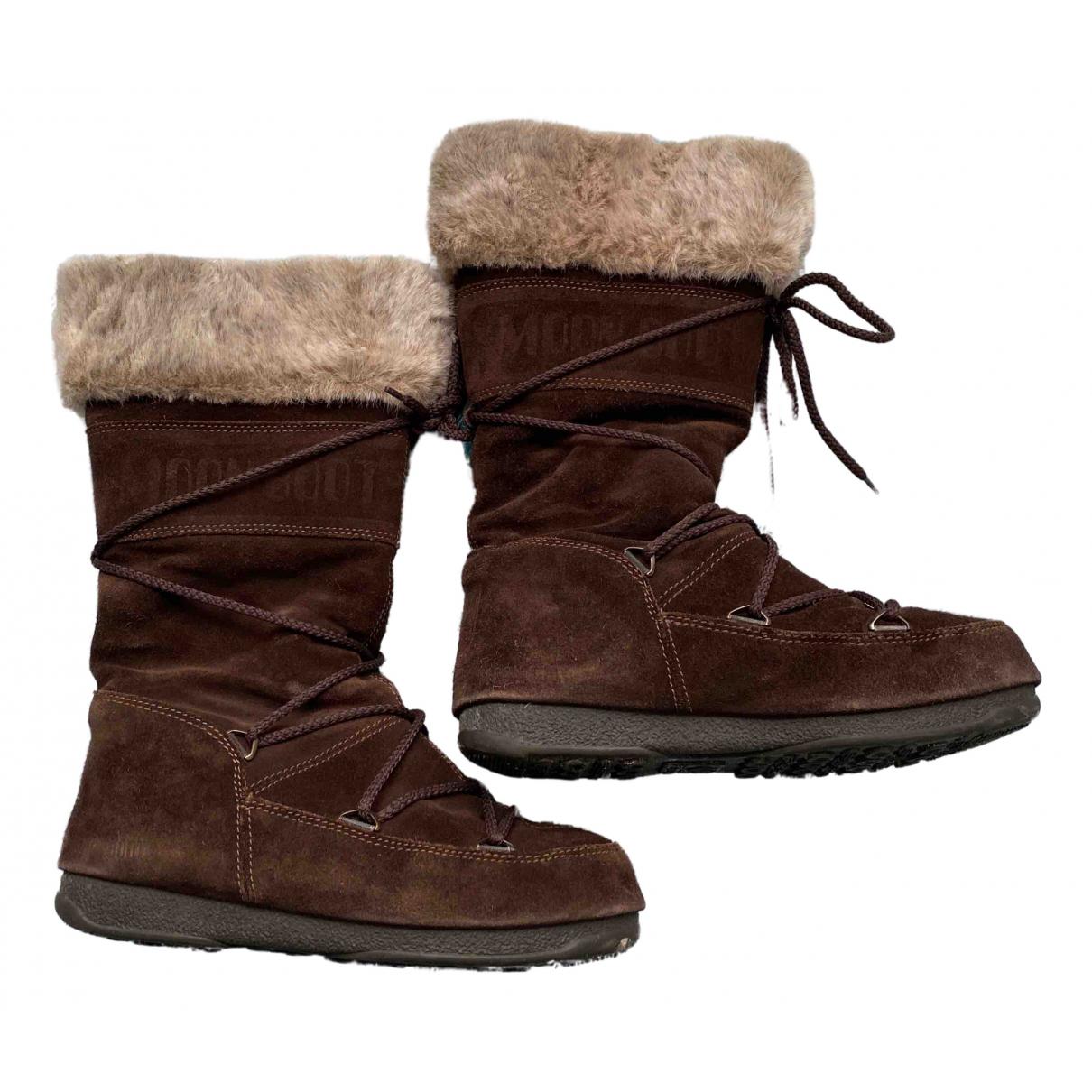Botas de Cuero Moon Boot