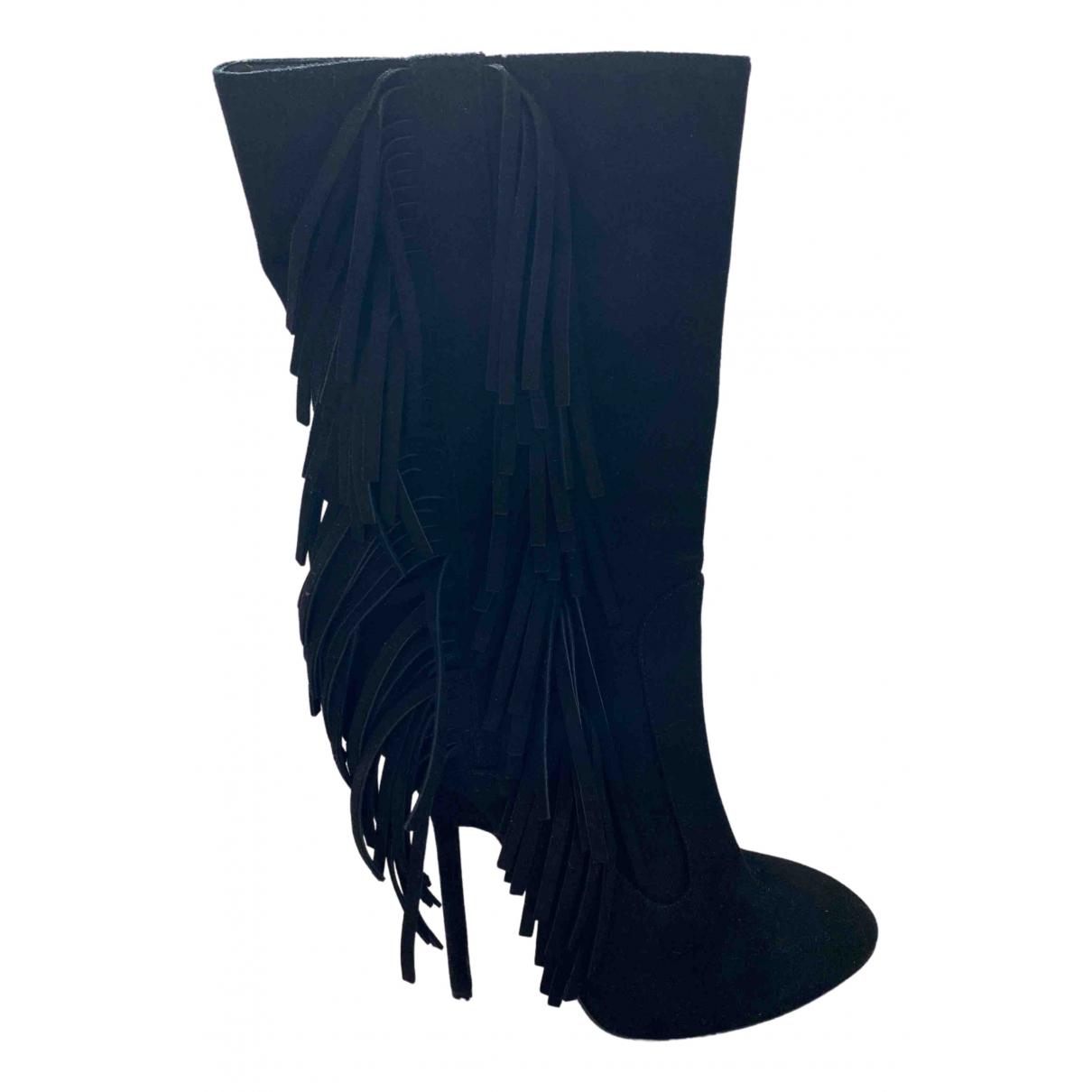 Giuseppe Zanotti - Boots   pour femme en suede - noir