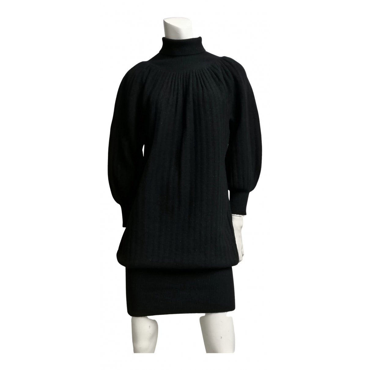 Non Signé / Unsigned N Black Wool dress for Women M International