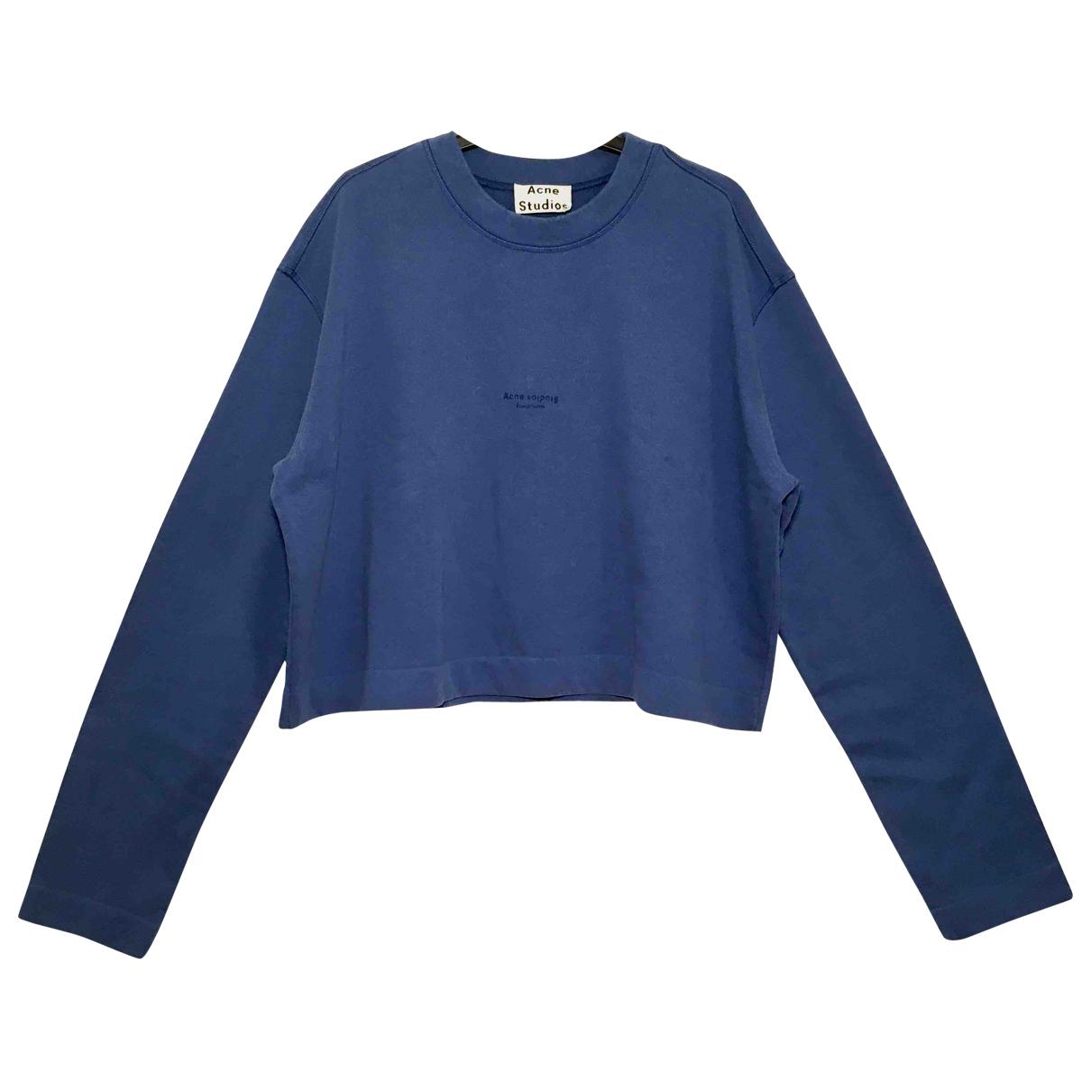 Acne Studios - Pull   pour femme en coton - bleu