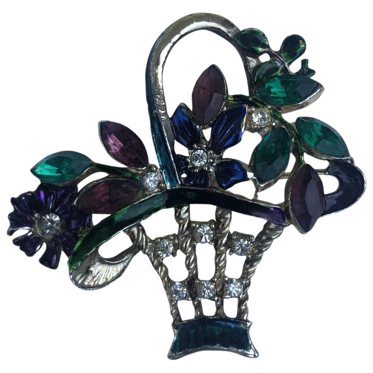 - Broche Motifs Floraux pour femme en metal - argente