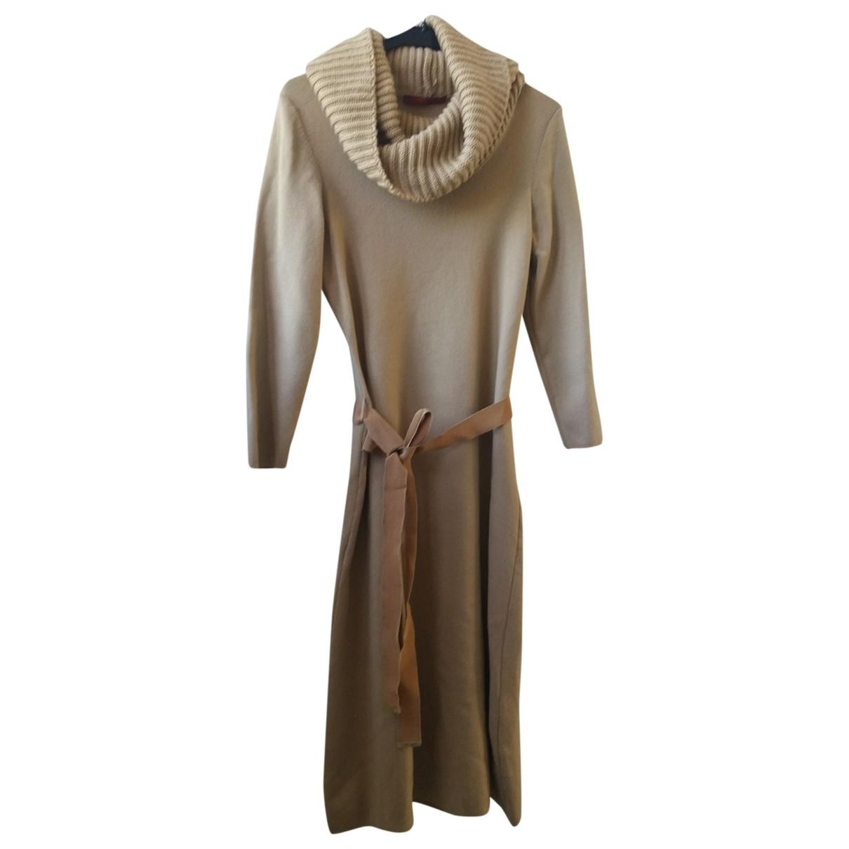 Carolina Herrera \N Camel Wool dress for Women S International