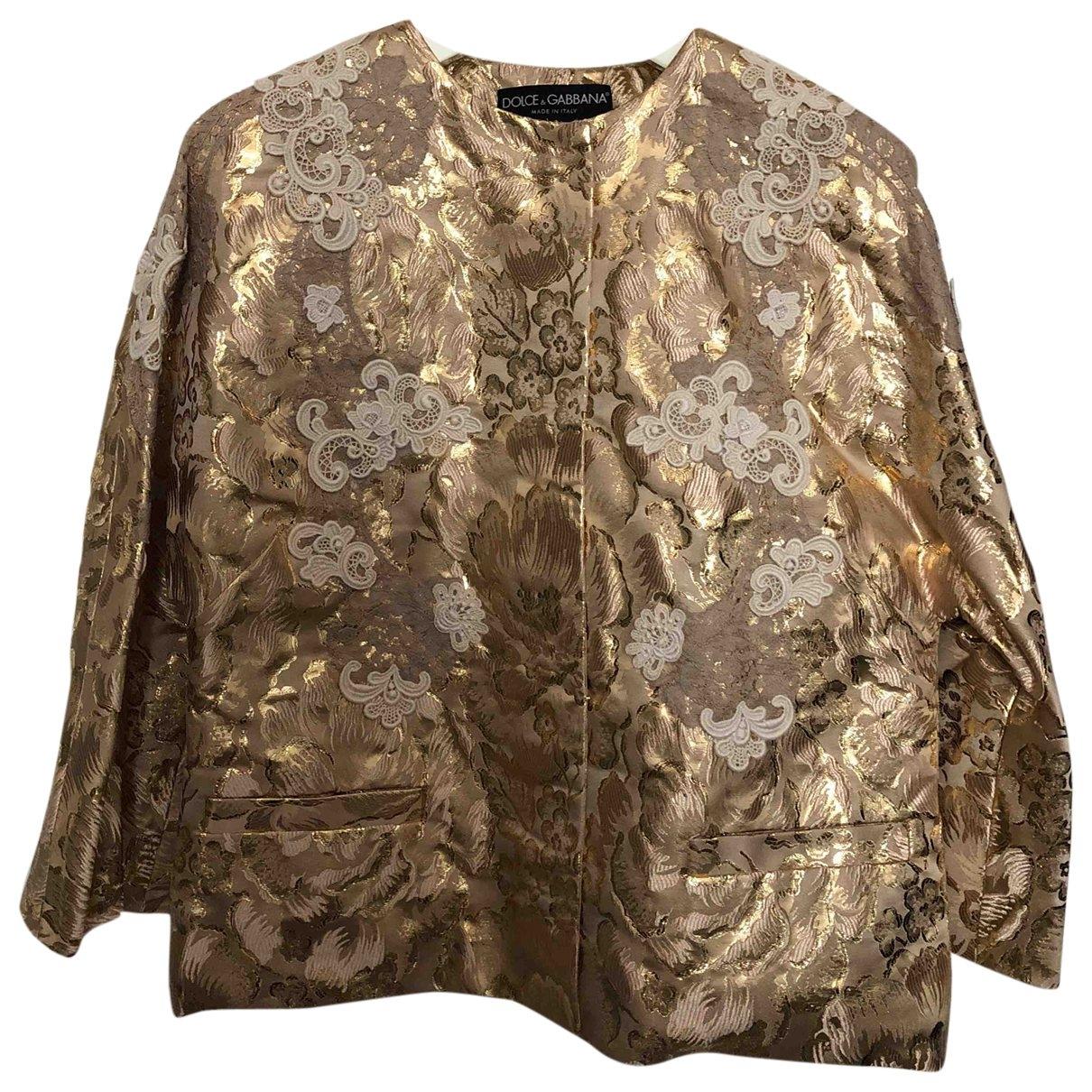 Dolce & Gabbana \N Jacke in  Gold Polyester