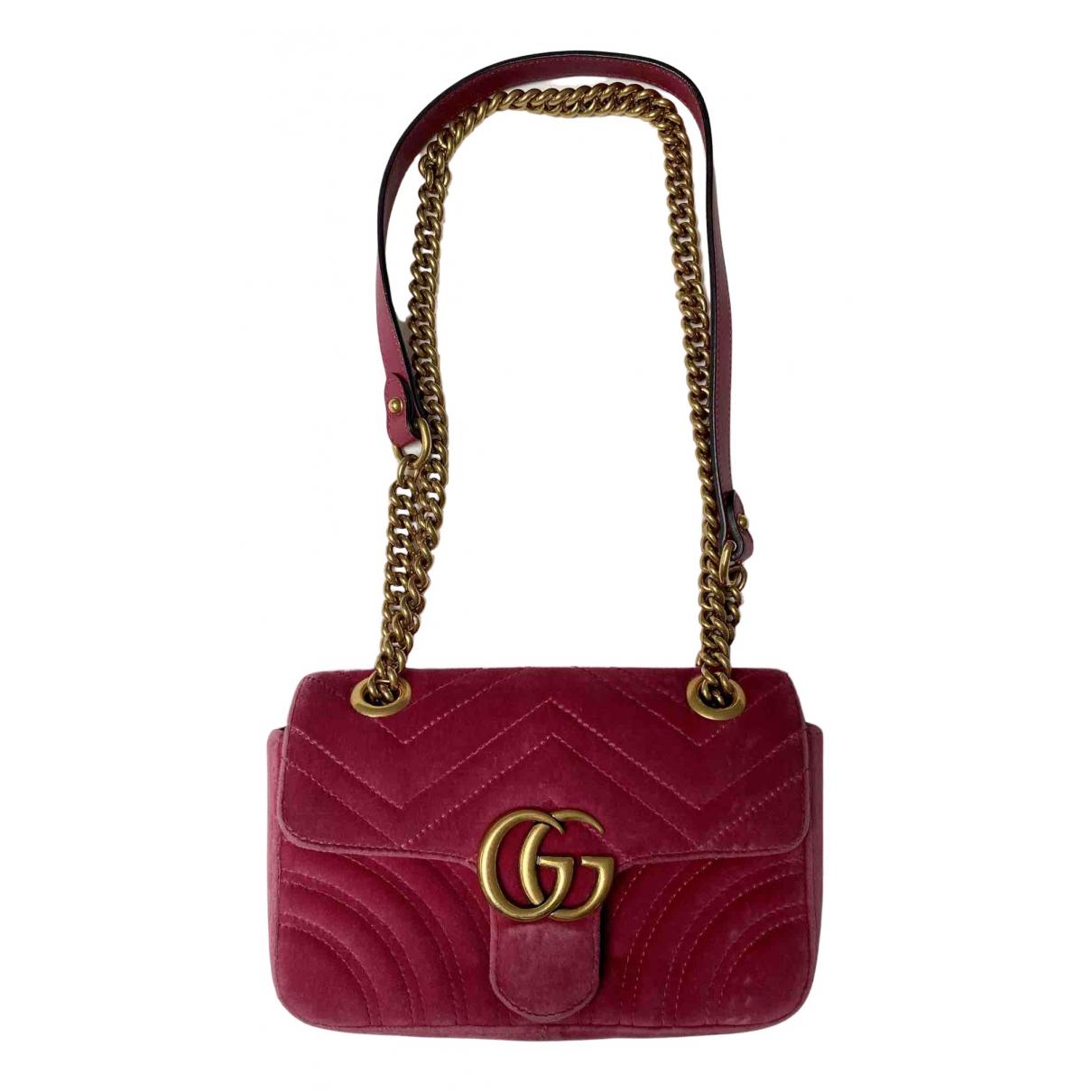 Gucci Marmont Pink Velvet handbag for Women N