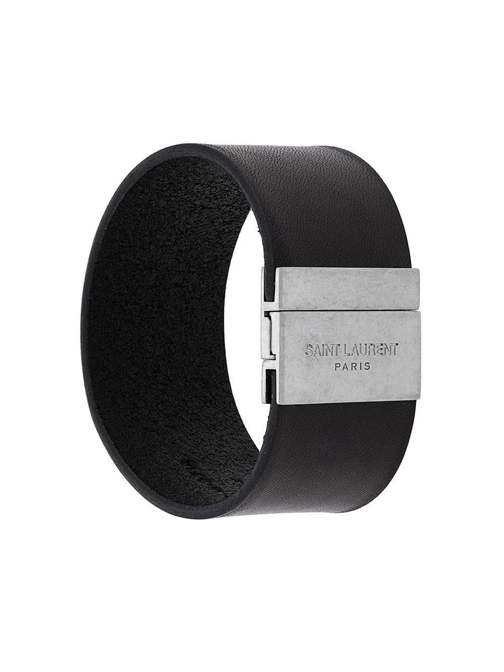 Id Cuff Leather Bracelet