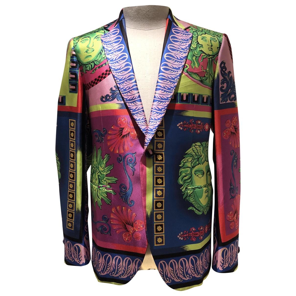 Versace - Vestes.Blousons   pour homme en soie - rose