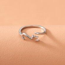Cartoon Animal Decor Cuff Ring
