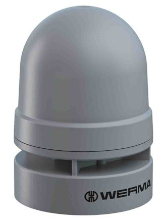 Werma EvoSIGNAL Mini Grey 2 Tone Electronic Sounder ,115-230 V, IP66