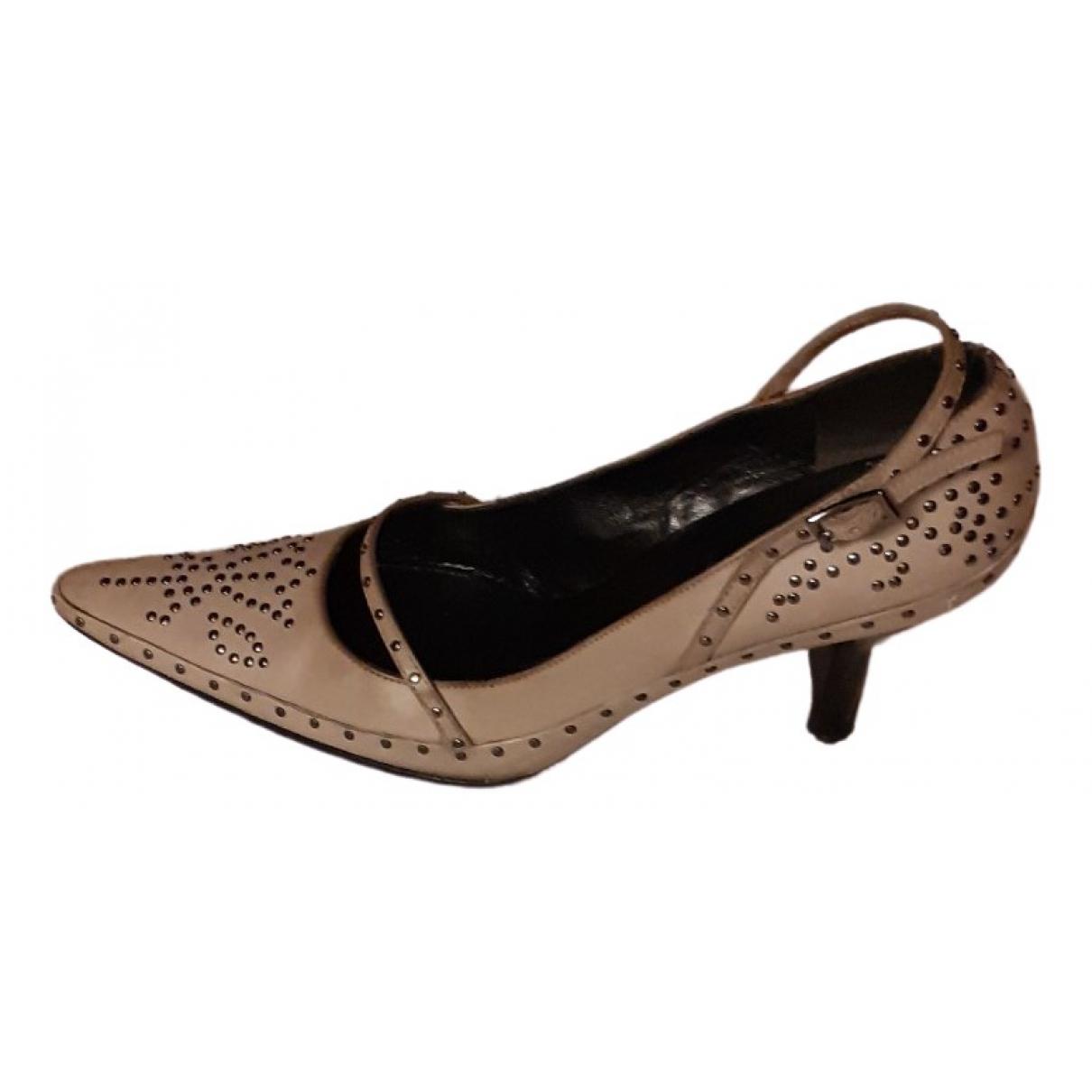 Fendi \N Grey Leather Heels for Women 36 EU