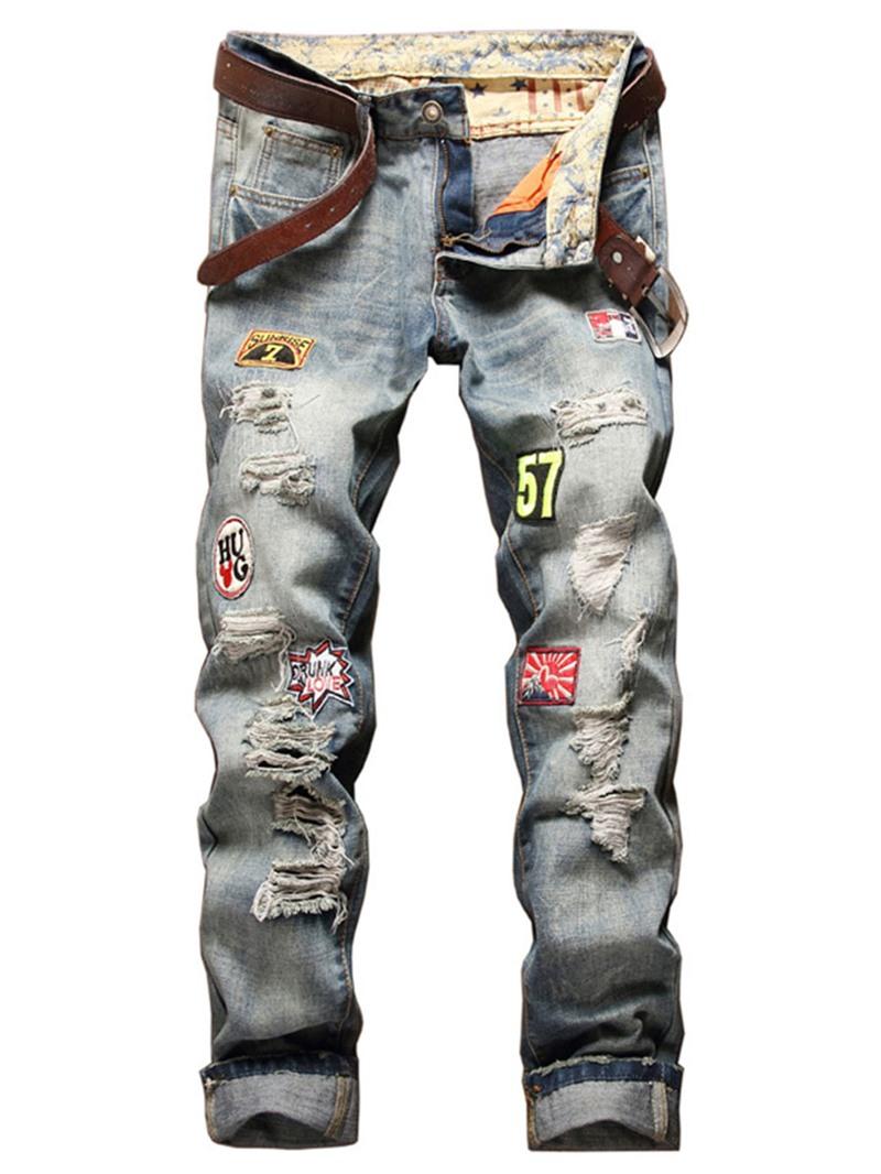 Ericdress Casual Holes Denim Men's Jeans