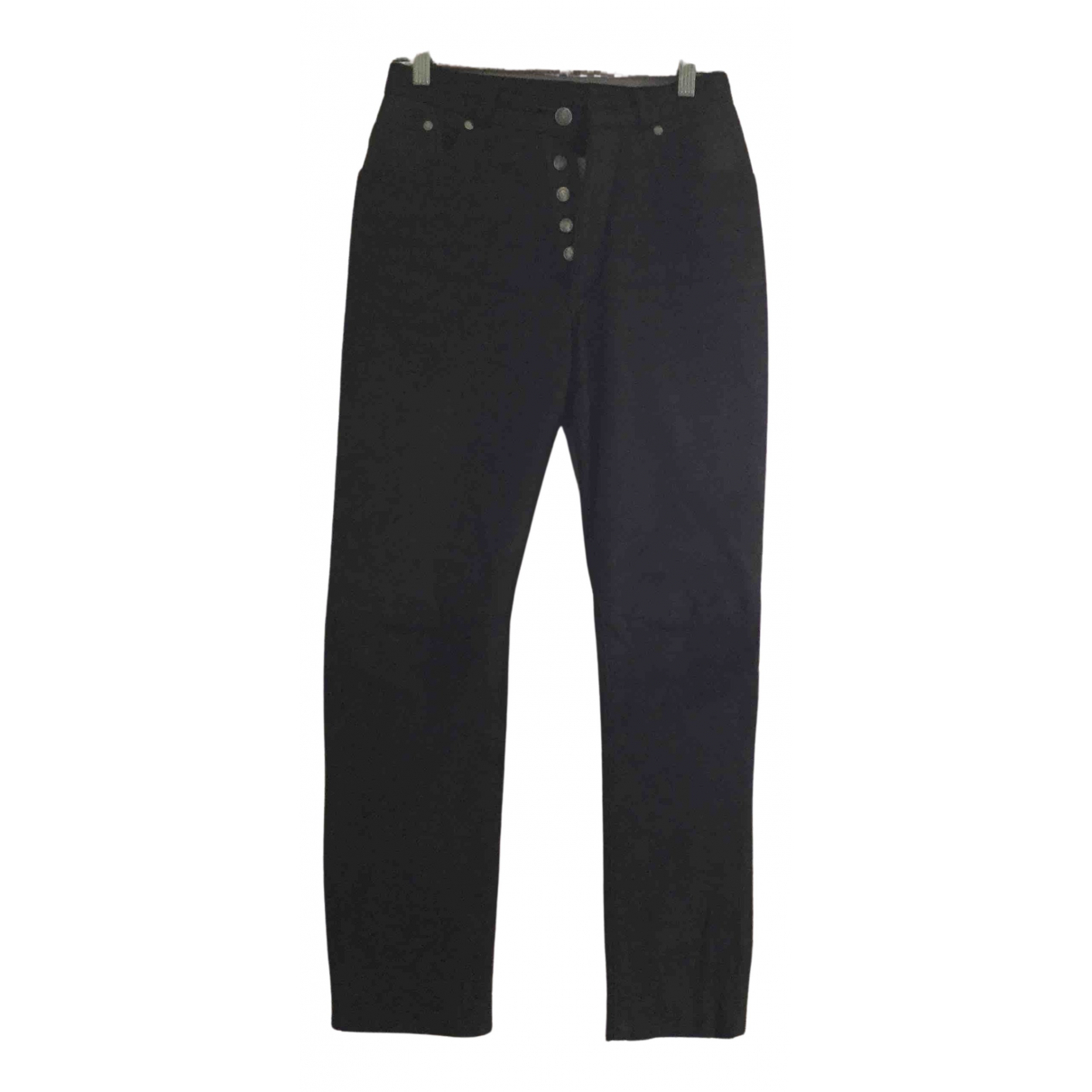 Mac Douglas N Brown Leather Trousers for Women 36 FR