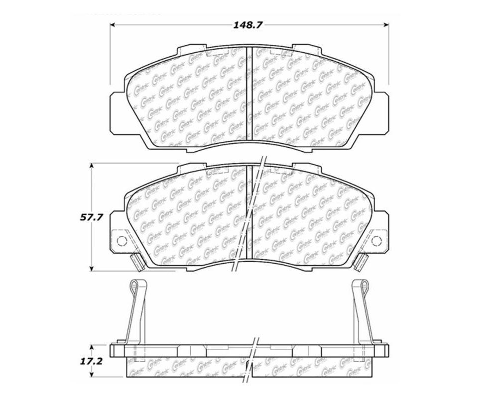 StopTech 105.0503 PosiQuiet Ceramic Pads Front