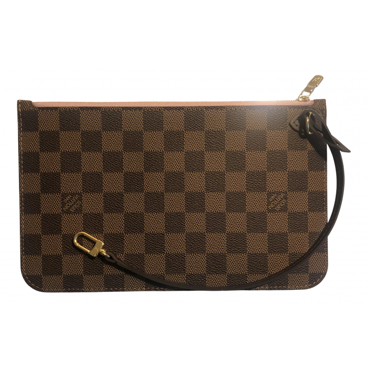 Louis Vuitton Neverfull Brown Cloth Clutch bag for Women N