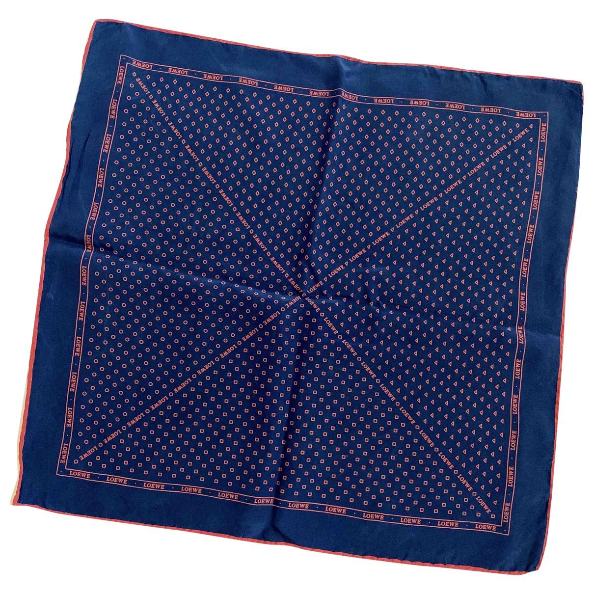 Loewe - Cheches.Echarpes   pour homme en soie - bleu