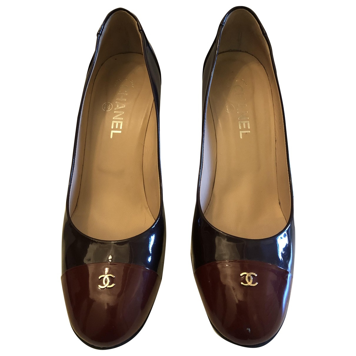 Chanel \N Burgundy Patent leather Heels for Women 40.5 EU