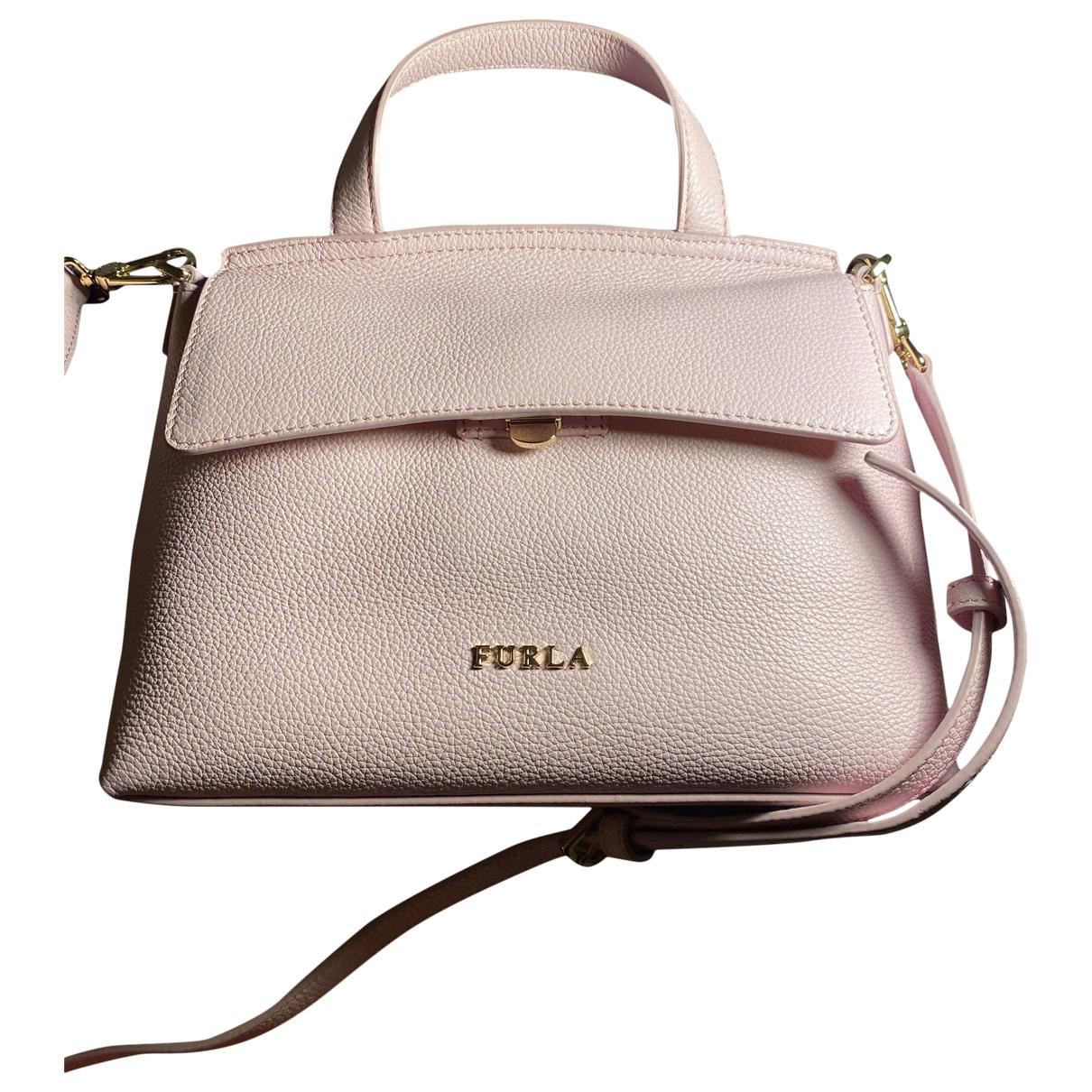 Furla Candy Bag Pink Leather handbag for Women N