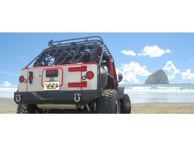 Warrior Products 5920 Heavy Duty Aluminum Body Armor Tailgate Cover Combo Jeep JK Wrangler 07-17