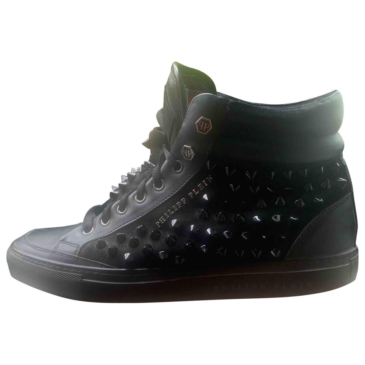 Philipp Plein \N Sneakers in  Schwarz Leder