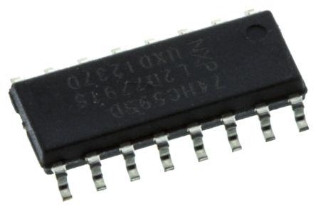 Nexperia 74HC595D,112 8-stage Shift Register, Serial to Serial/Parallel, , Uni-Directional, 16-Pin SOIC (50)