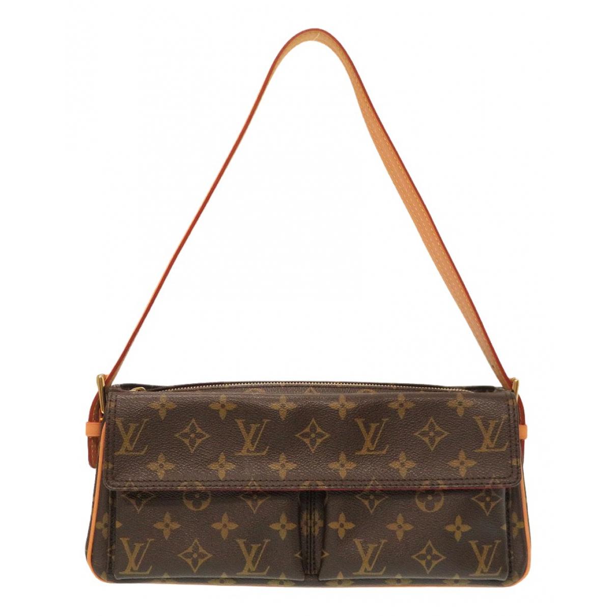 Louis Vuitton Viva Cite Handtasche in  Braun Leinen