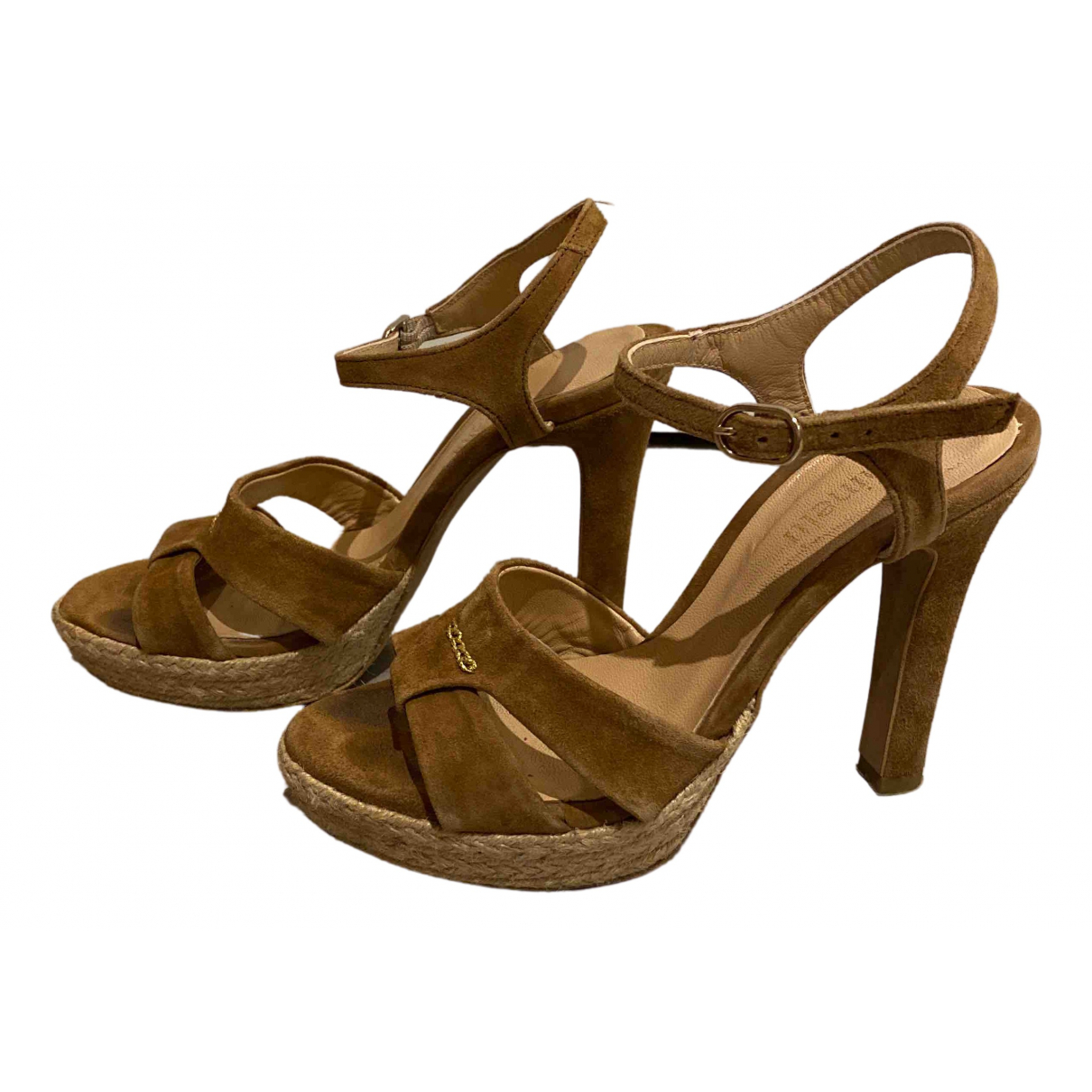 Minelli N Brown Suede Sandals for Women 36 EU