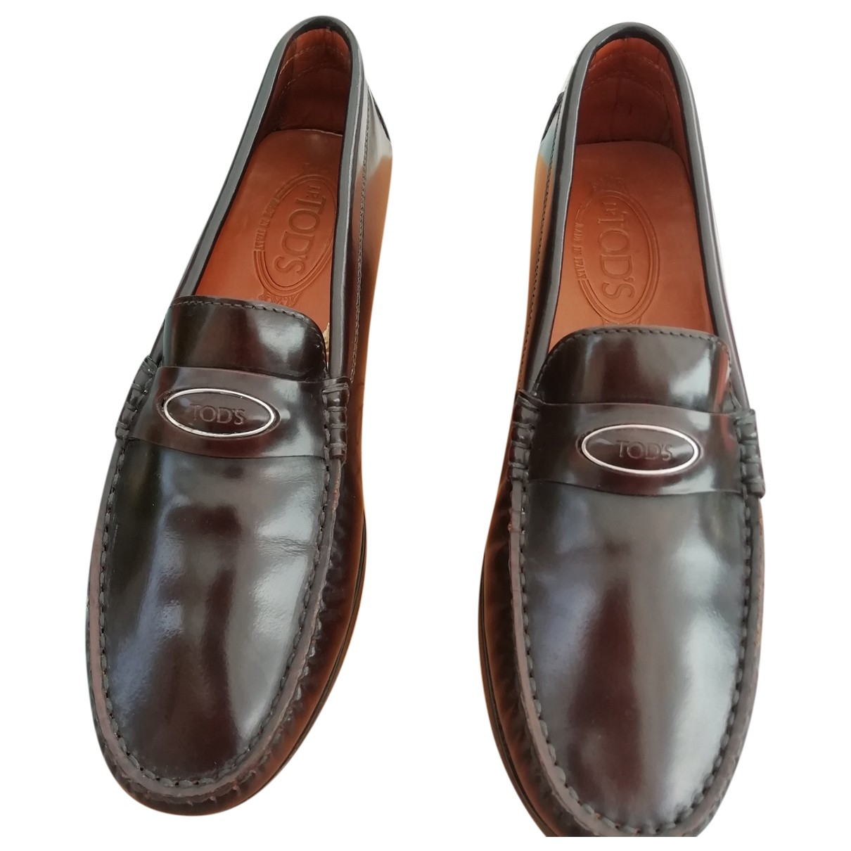 Tod's \N Brown Leather Flats for Women 37.5 EU