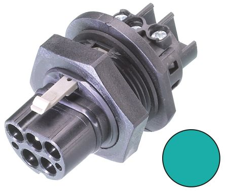 Wieland RST20i5 Series, Male 5 Pole 1 Way Connector, Panel Mount, Rated At 20A, 250 V, Blue