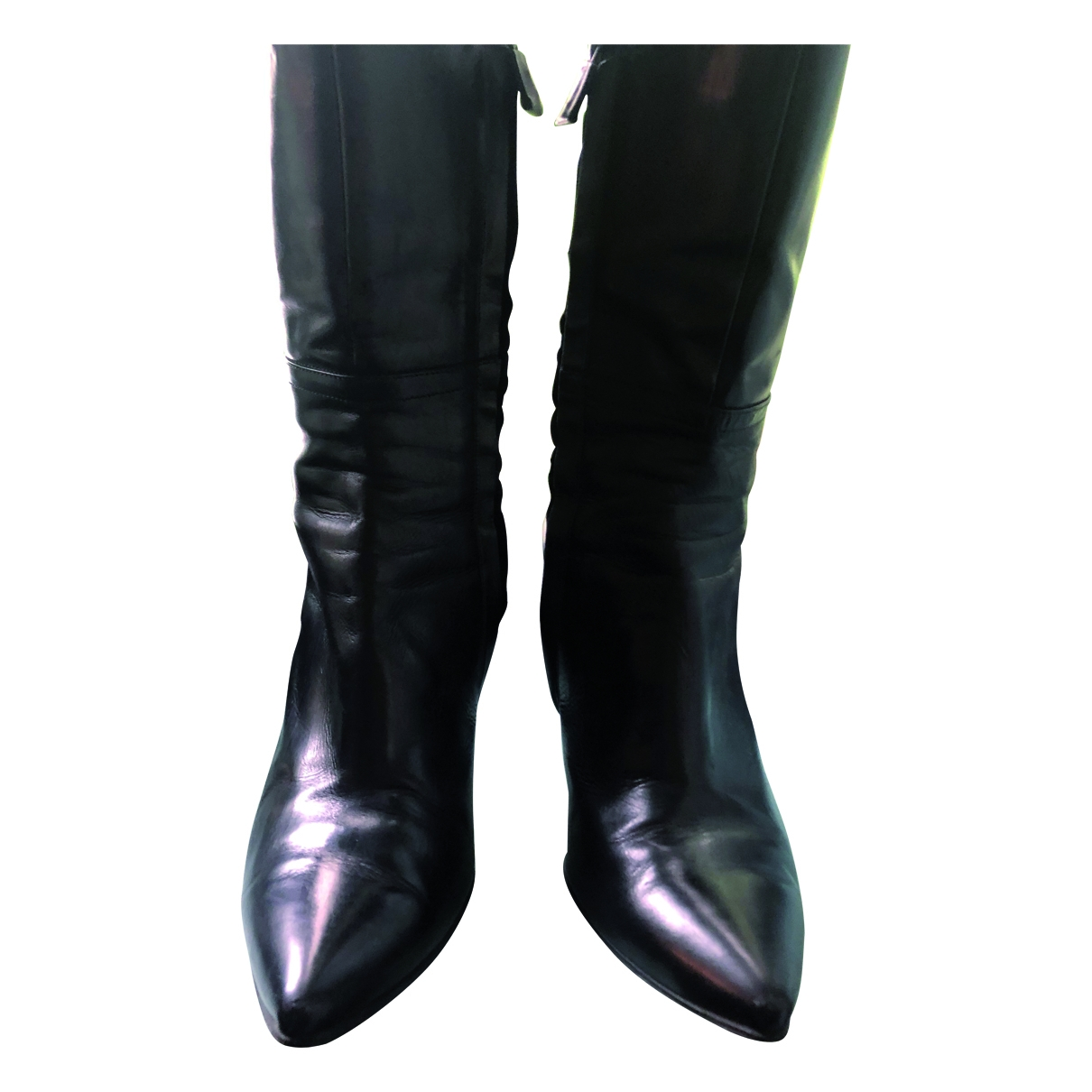 Costume National \N Black Leather Boots for Women 39 EU